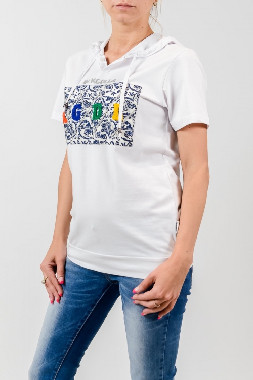 Женская футболка с капюшоном KGDL